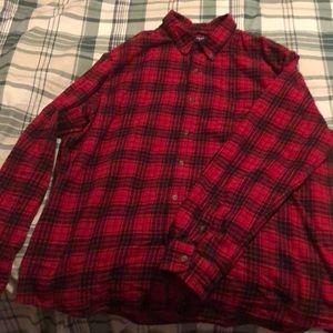Men's Chaps XXL red/black plaid flannel